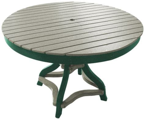 Green Patio Table Buck Stove Patio Furniture Outdoor Furniture 48 Inch Table Coastal Eco Leisure 1332 Castle