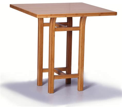 side table height greenington tulip bar height table in classic bamboo