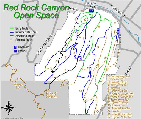 rocks colorado map rock open space map