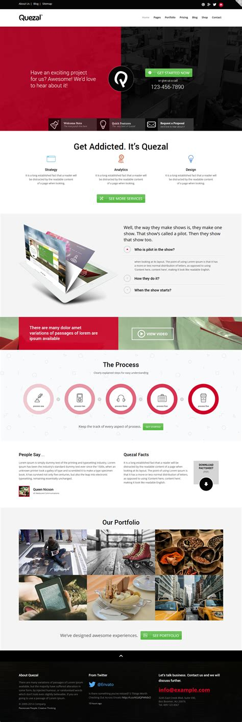 themeforest quezal quezal theme a premium business technology wordpress