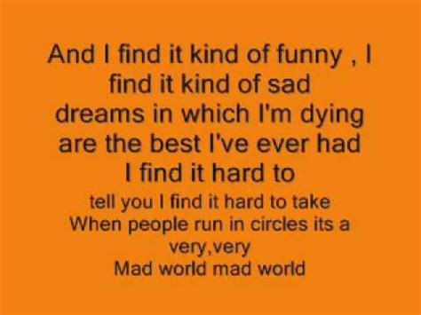 mad world traduzione testo mad world gary jules donnie darko soundtrack lyrics