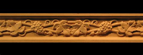 frieze wine grapes leaves decorative carved wood molding