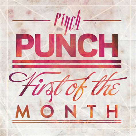 1st of the month meme design a day 04 pinch punch of the month 20