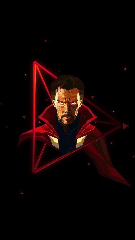 doctor strange neon avengers infinity war iphone wallpaper
