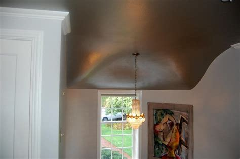 contoured ceiling painted with metallic paint yelp