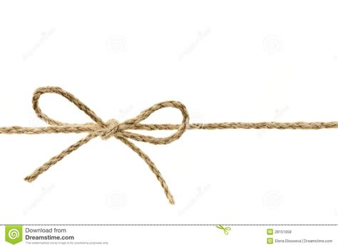 String Knotting - string in a bow stock photo image of inexpensive