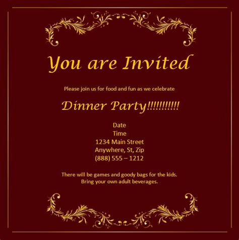 invitation templates word excel pdf