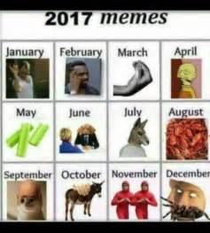 Meme Calendar 2016 - fake meme calendar predicts best memes for the rest of 2017