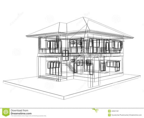 sketch house design sketch design of house stock illustration image 44501181