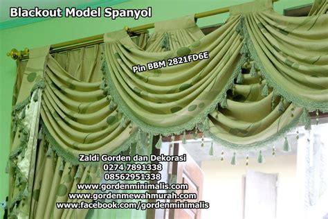 Gorden Casilas Poni Renda Murah gorden blackout dibuat model spanyol model gorden rumah