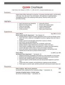 Officer Resumes by Officer Resume Exle Emergency Services Sle Resumes Livecareer