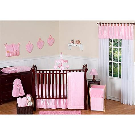 Satin Crib Bedding Sweet Jojo Designs Pink Chenille And Satin Crib Bedding Collection Buybuy Baby