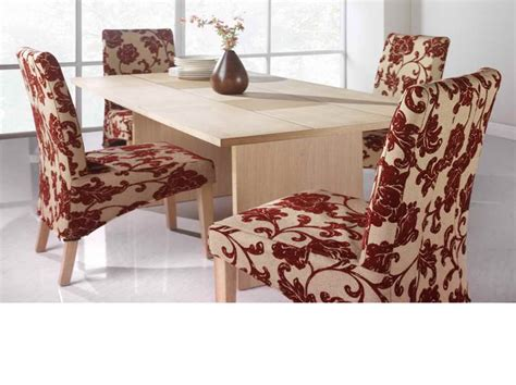 Cool ideas of dining room chair seat covers with red tribal color stroovi