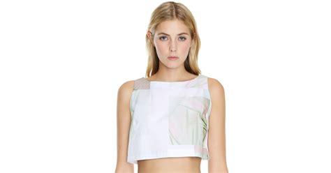 tibi cactus print crop top and matching midi skirt 13