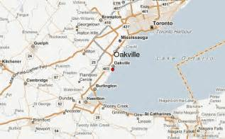 oakville ontario canada map oakville location guide