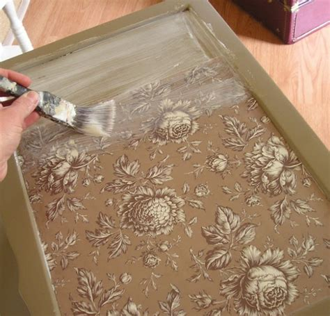 Can You Use Wallpaper For Decoupage - 39 furniture decoupage ideas give things a second