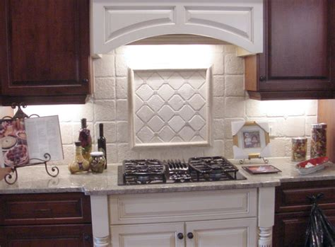 Traditional Kitchen Backsplash by White Kitchen Backsplash Tile Traditional Kitchen