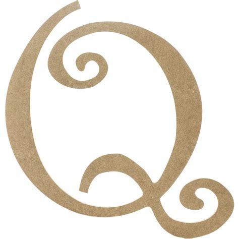 Letter Q 14 quot decorative wooden curly letter q ab2161