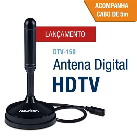 Antena Tv Digital Terbaru antena tv digital hdtv dtv 150 aquario cabo 5 metros aquario