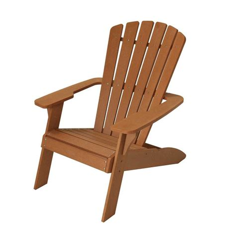 Patio Wood Chairs Lifetime Simulated Wood Patio Adirondack Chair 60064 The Home Depot