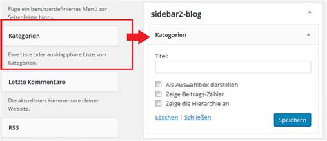 wordpress kategorie layout wordpress nur bestimmte kategorien in der sidebar