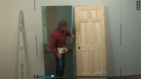 How To Hang A New Interior Door Pretty How To Install A Prehung Exterior Door On Doors Http Www Diynetwork How To How To