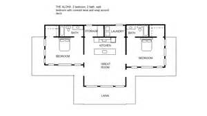 Small House Plans Split Bedroom The Aloha 2 2 Split Bedroom Floor Plan