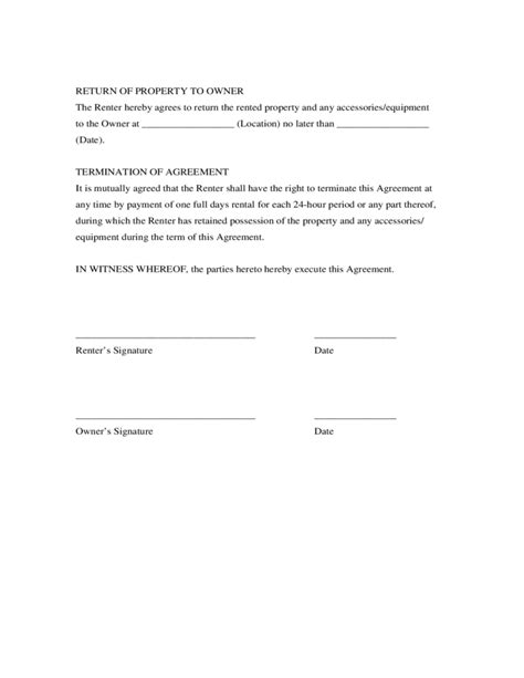 generic rental agreement template generic rental agreement free