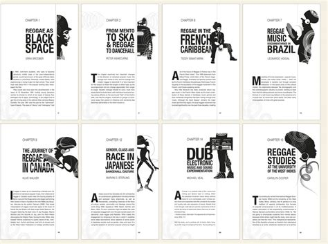 newspaper layout design book book design chapter headings pages cooper global reggae