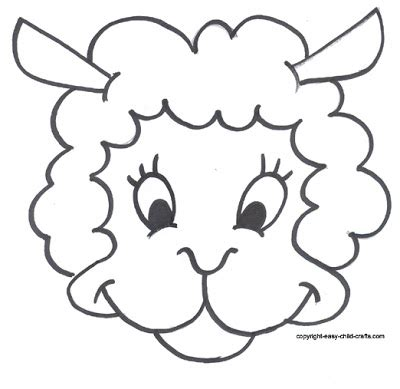 new year sheep mask template