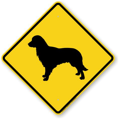 golden retriever guard golden retriever symbol sign guard sign beware sign sku k 7633 g retriever