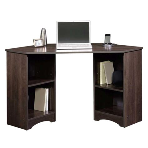sauder beginnings cinnamon cherry desk with storage 413073