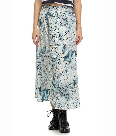buy oxolloxo multi polyester maxi skirt at best