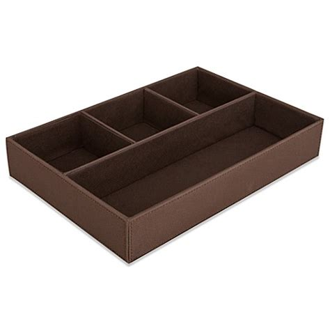 4 compartment drawer organizer buy 4 compartment drawer organizer in chocolate from bed