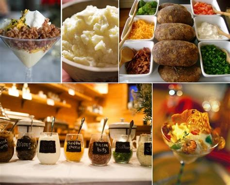 mashed potato bar toppings wedding baked potato bar recipe dishmaps