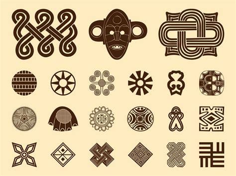 african pattern vector african symbols set vector art graphics freevector com
