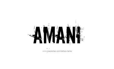 amani name tattoo designs