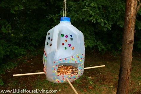 milk jug bird feeder uses for milk jugs little house living