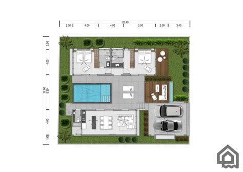 villa layout plan with pool 2 bedroom private pool villas for sale estate samui
