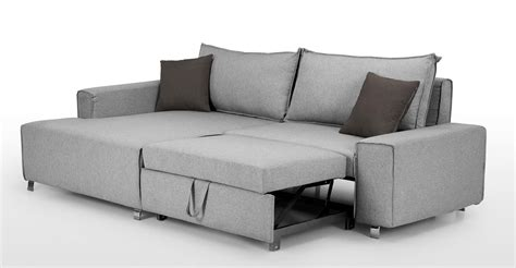 Grey Corner Sofa Bed Mayne Left Facing Corner Sofa Bed Clear Grey Made
