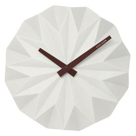 How To Make An Origami Clock - karlsson origami wall clock white faceted designer clock