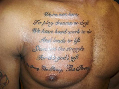 tattoo quotes for the chest 121 awe inspiring chest quotes tattoos