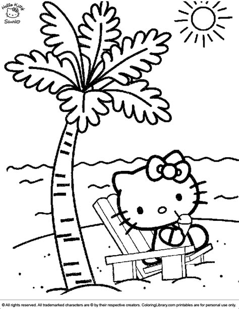 coloring page hawaii hello coloring picture