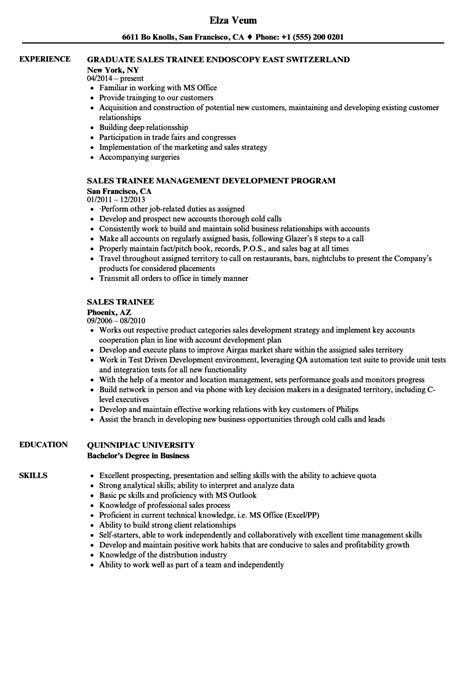 Graduate Trainee Sle Resume by Sales Trainee Resume Sles Velvet
