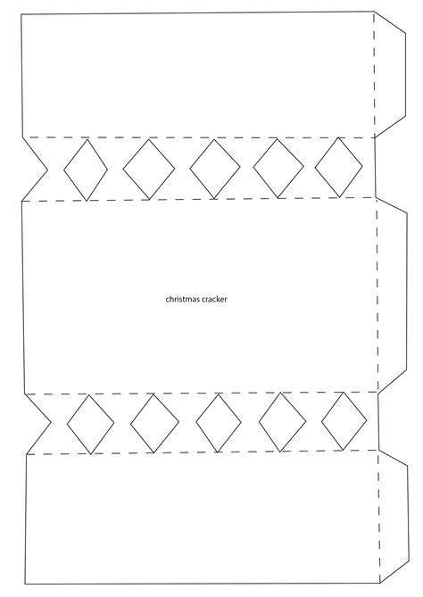 Cracker Card Template Free by Cracker Template Printable For