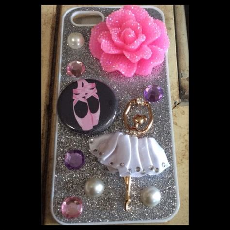 Ballet Rhinestone Cover For Iphone 5c Handmade Import ballet shoes limited quantities 183 princess armor 183 store powered by storenvy