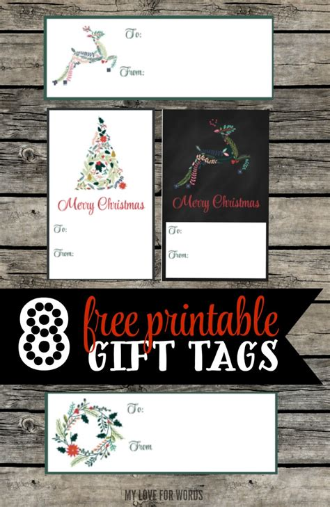 free printable gift tags from organized christmas com free printable christmas gift tags happy organized life