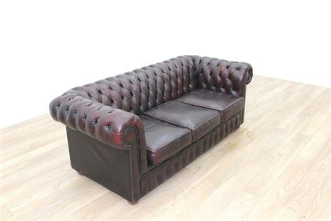oxblood chesterfield sofa ebay oxblood leather chesterfield executive office reception sofa