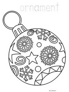 Christmas coloring book for kids christmas ornaments coloring page