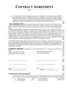 contract of work template contractor agreement template free printable documents